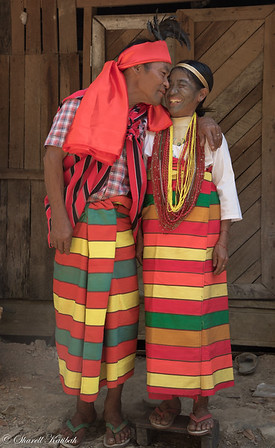Husband and Wife in Traditional Clothing, Kanpetlet, Chin State
