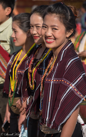 Women in Tradtional Dress at Chin National Day
