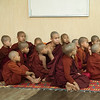 Young Monks Watching Television