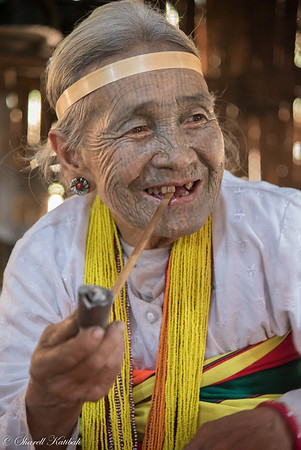 Woman with Pipe, Kanpetlet, Chin State