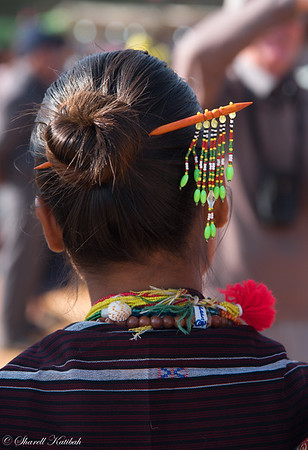 Hair Decoration, Chin National Day