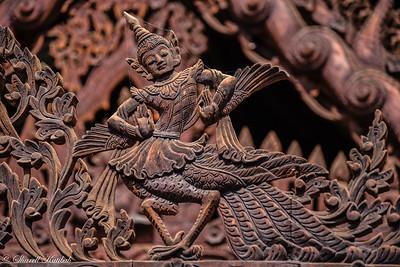 Teak Carving, Monastery, Bagan