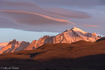 Sunrise with Lenticular Clouds over Torres del Paine