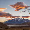 Sunset with Lenticular Cloud, Torres del Paine