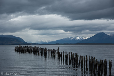 Cloudy Morning on Seno Ultima Esperanza, Puerto Natales
