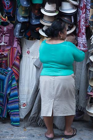 Had and clothing stall, Puerto Vallarta