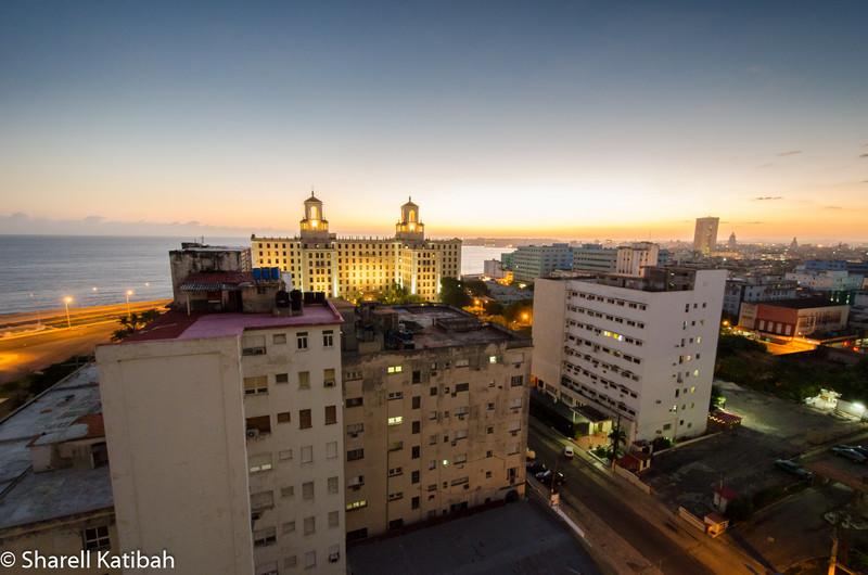 Sunrise from the Hotel Capri