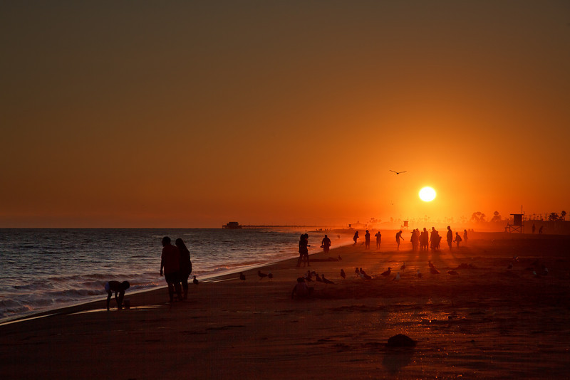 Last moments of light on Newport Beach