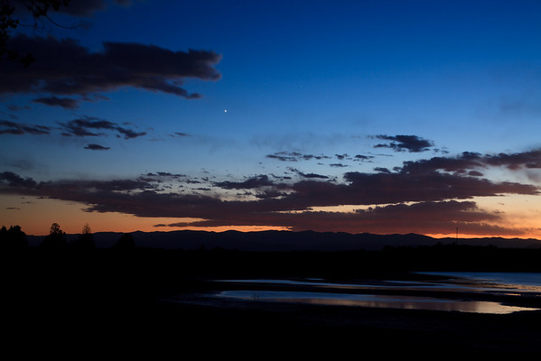 Twilight at Palisades Reservoir/Campground.