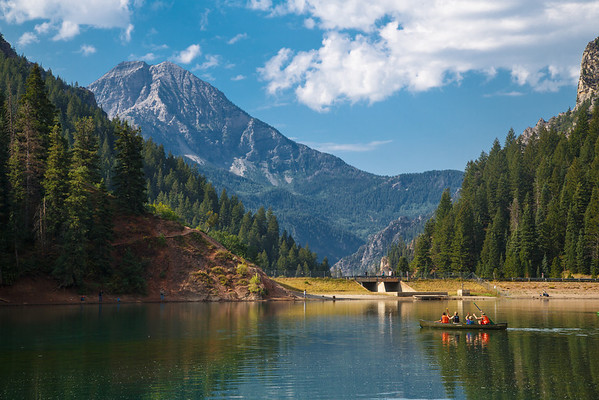 Canoe on Tibble Fork Reservoir