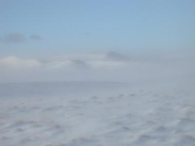 Wind and Snow, Laramie Valley, Wyoming
