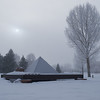 Stan Dolega (American, b. 1943), Vedauwoo Modernized, 2008, steel, rock, 10 x 10 x 8 ft, lent by the artist; Optimist Park