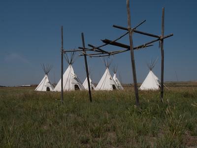 Blackfeet burial platform. Fort Union Trading Post National National Historic Site, North Dakota/Montana