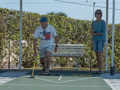 Richard and Tina, serious shuffleboard competitors
