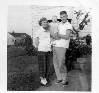 Diane, Becky, and Jim Harsha. Date unknown, maybe 1953-4?
