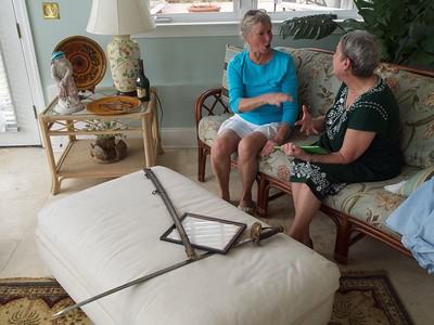 Lesley and Joann discover their genealogical connection with William Wallace.