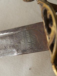 William Wallace's Civil War sword.