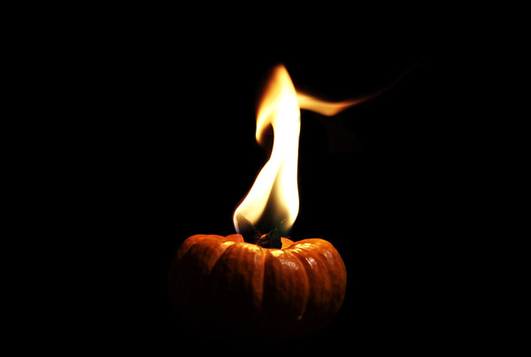 flamed pumpkin