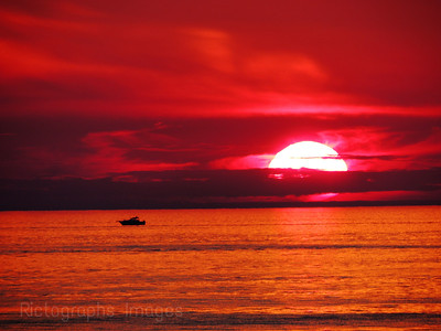 Lake Huron Sun Set; Summer 2015, Landscape, Photography,