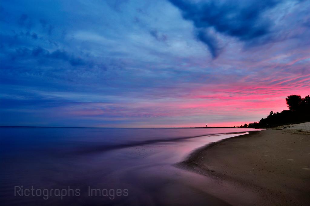 Lake Huron, Sun Rise, Summer 2015, Ontario, Canada, Landscape, Photography,