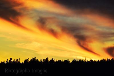 Colorful Sky At Sun Set,