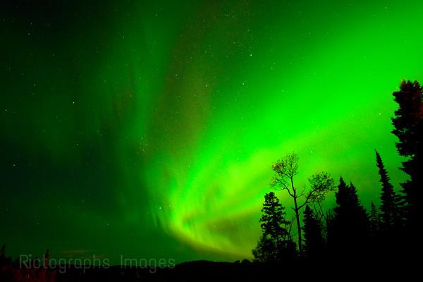 Aurora Borealis , Starry Sky