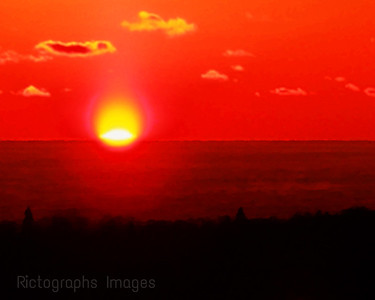 Sun Rise Lake Superior, Rictographs Images