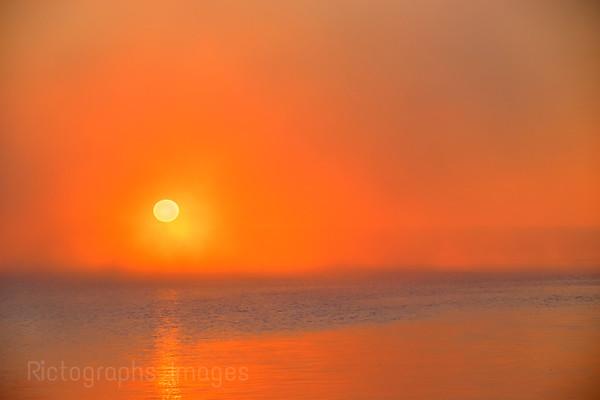 Foggy Sun Rise, Summer 2018