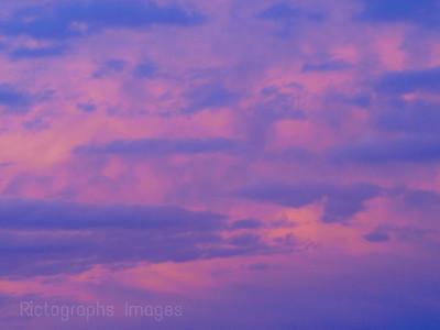 Blue Clouds Pink SKY