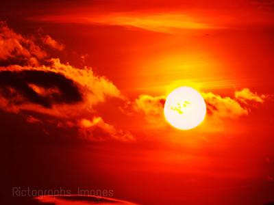 Sunny, Orange, Sky