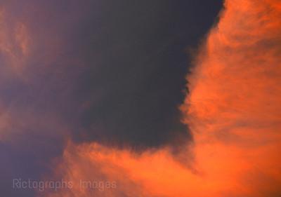 Sky, Orange, Blue
