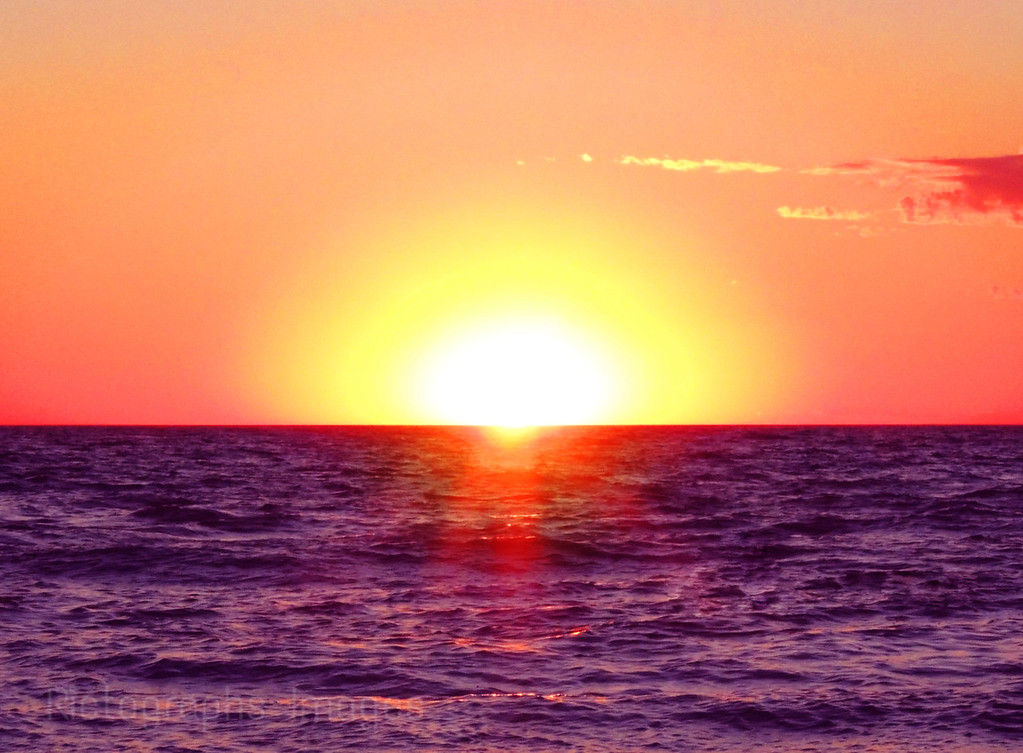 Lake Huron Sun Set; Summer 2015, Landscape, Photography, Ric Evoy, Rictographs Images