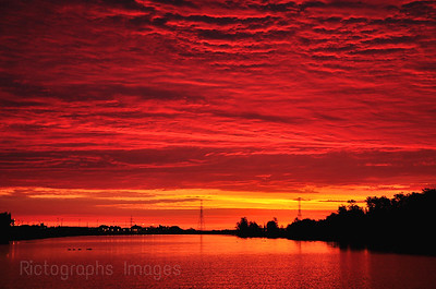 Red Sunrise on the Kam River
