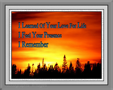 I Remember, Photo Poem, Rictographs Images