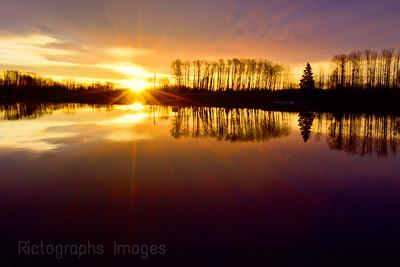 Kaministiqua River Sun Rise, Spring 2019