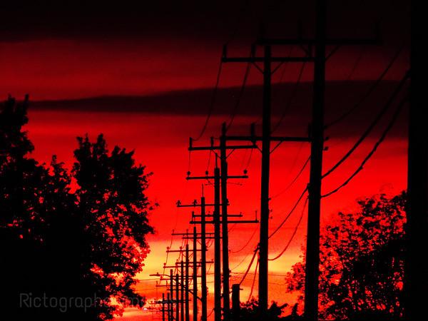 Power Lines & Sunrise