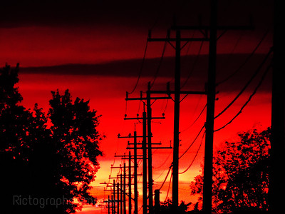 Power Lines & Sunrise