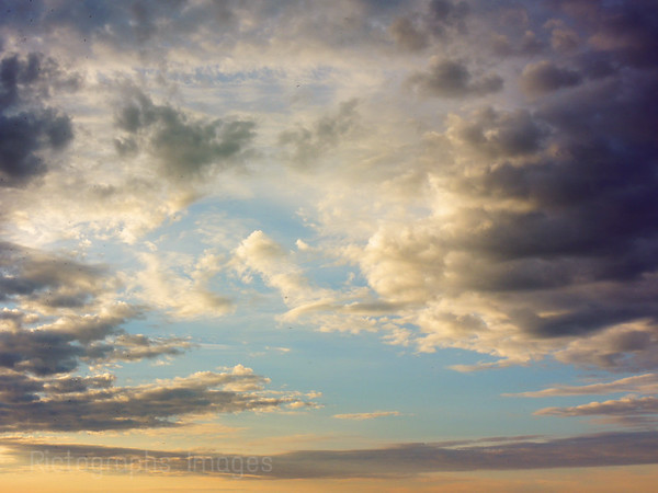 Colorful Cloudy Sky, Layers