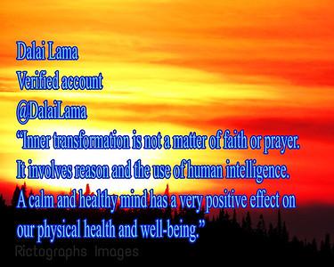 Dalai Lama, Photo Quote, Rictographs Images