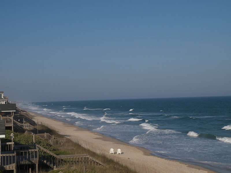 Topsail Island, North Carolina, from our deck.