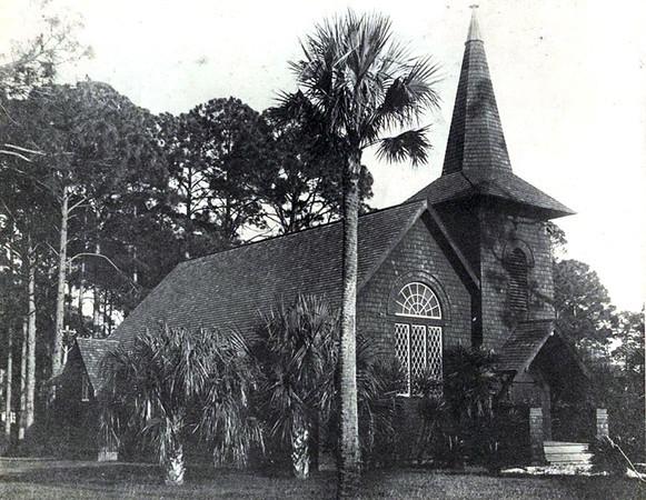 Faith Chapel (built 1904). Undated photo. Jekyll Island, Georgia