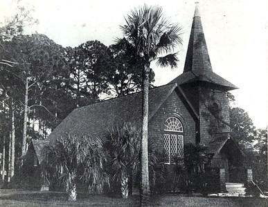 Faith Chapel (built 1904). Undated photo. Jekyll Island, Georgia