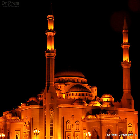 A Mosque in Cultural City of the World, Sharjah, UAE