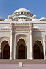 The Al Noor Mosque exterior in Sharjah, UAE.