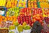 Closeup of fruit displayed in the fruit market in Sharjah, UAE.