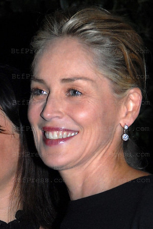 Sharon Stone honoring the signing book A FEAST AT THE BEACH by William Widmaier and the celebration of Provence and la joie de vivre at the French Consulat House in Los Angeles,California on October 12,2010