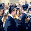 DAVID BORRELLI - THE CENTRAL RECORD<br /> Shawnee High School seniors look on at their graduation ceremony.
