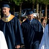 DAVID BORRELLI - THE CENTRAL RECORD<br /> Shawnee High School seniors process into the stadium for their graduation ceremony.