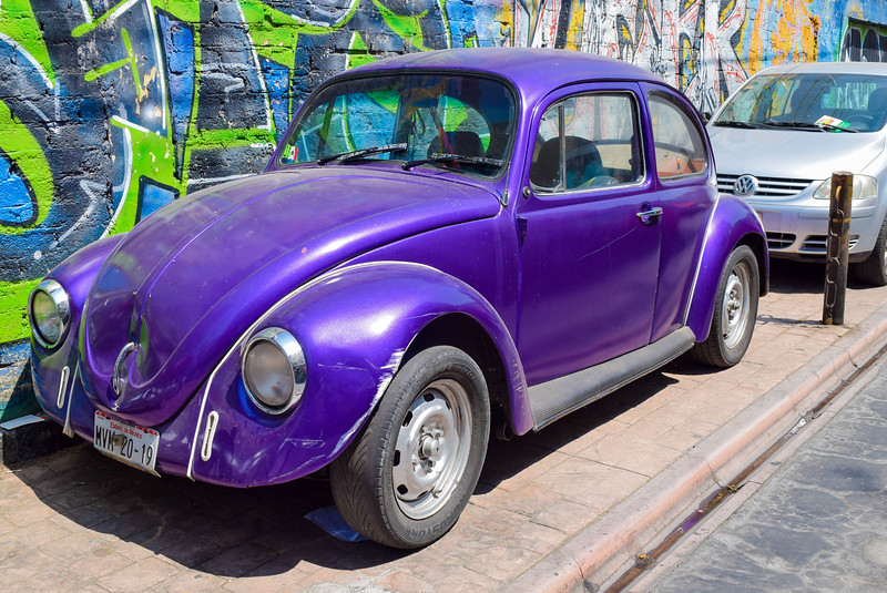 Classic Car in the San Miguel Chapultepec