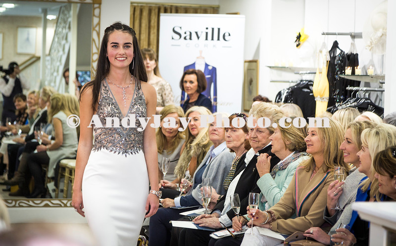 EEjob 13/04/2017 SOCIAL Sheena's Boutique, Oliver Plunkett Street, Customer evening of opera and glamour fashion show.  Model Shannon Helly on the catwalk during Thursdays event at Sheena's Boutique, Oliver Plunkett Street.  Picture: Andy Jay